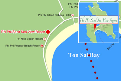 Map of Phi Phi Sand Sea View Resort